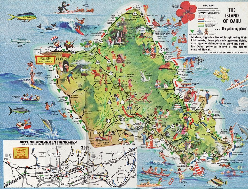 O'ahu | Vacation | Oahu Hawaii Map, Oahu Map, Map Of Hawaii - Printable Map Of Oahu Attractions