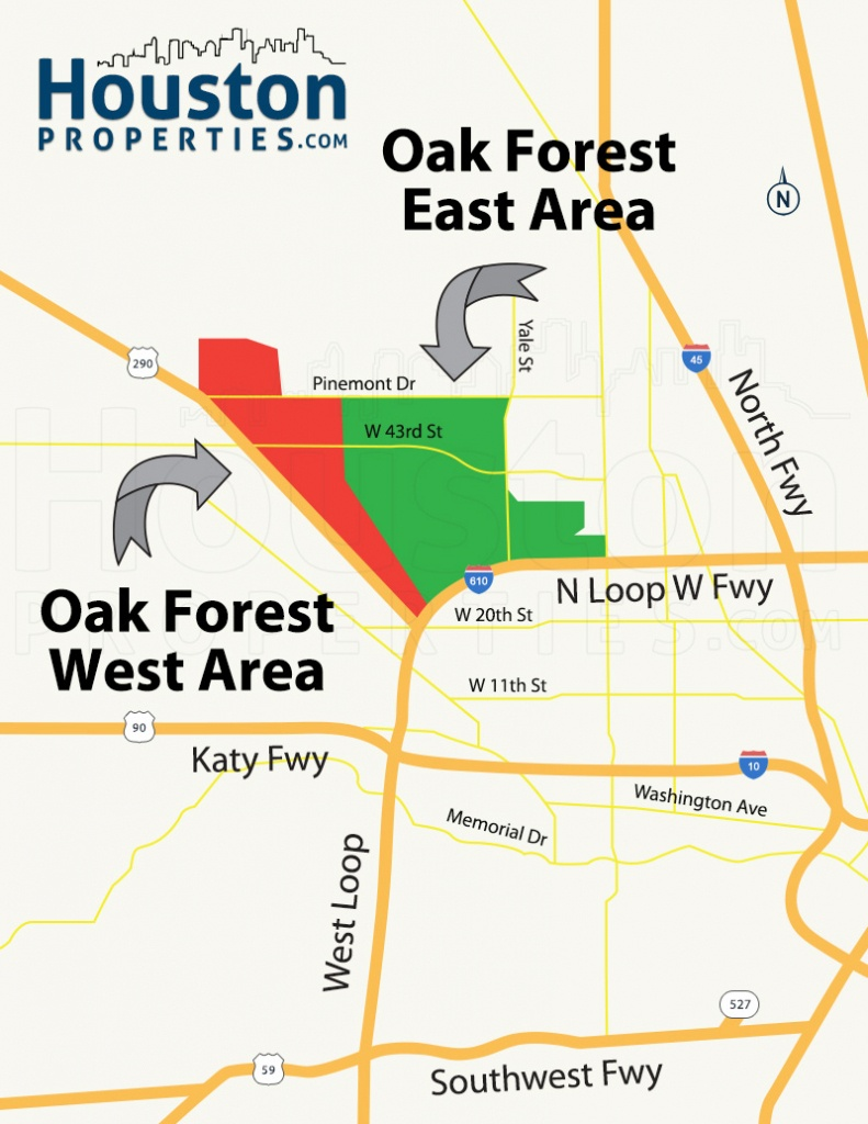 Oak Forest Houston Homes, Real Estate, Neighborhood - Map Of Northwest Houston Texas