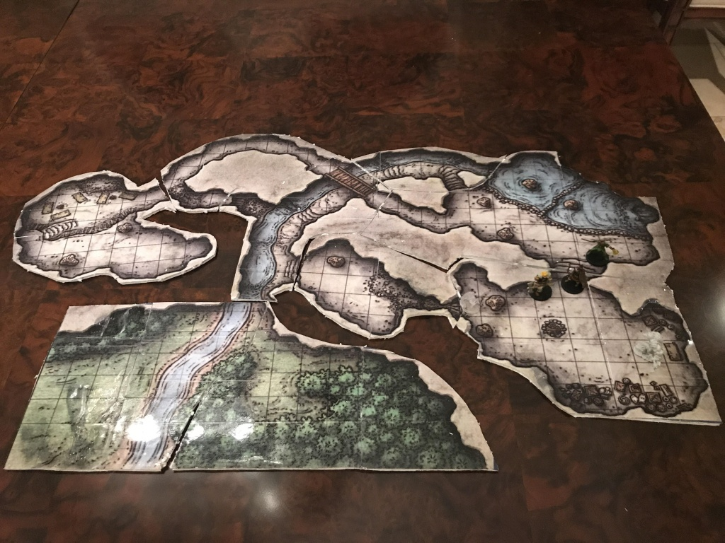 Oc] [Lmop] Cragmaw Hideout Map Built For Our Group Of First Timers - Cragmaw Hideout Printable Map