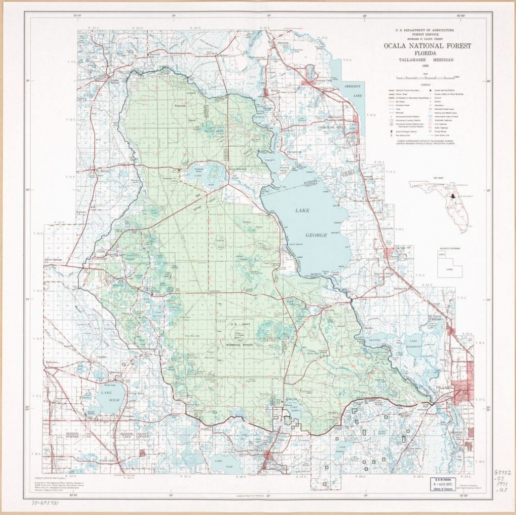 Ocala National Forest, Florida.   Library Of Congress - National Forests In Florida Map