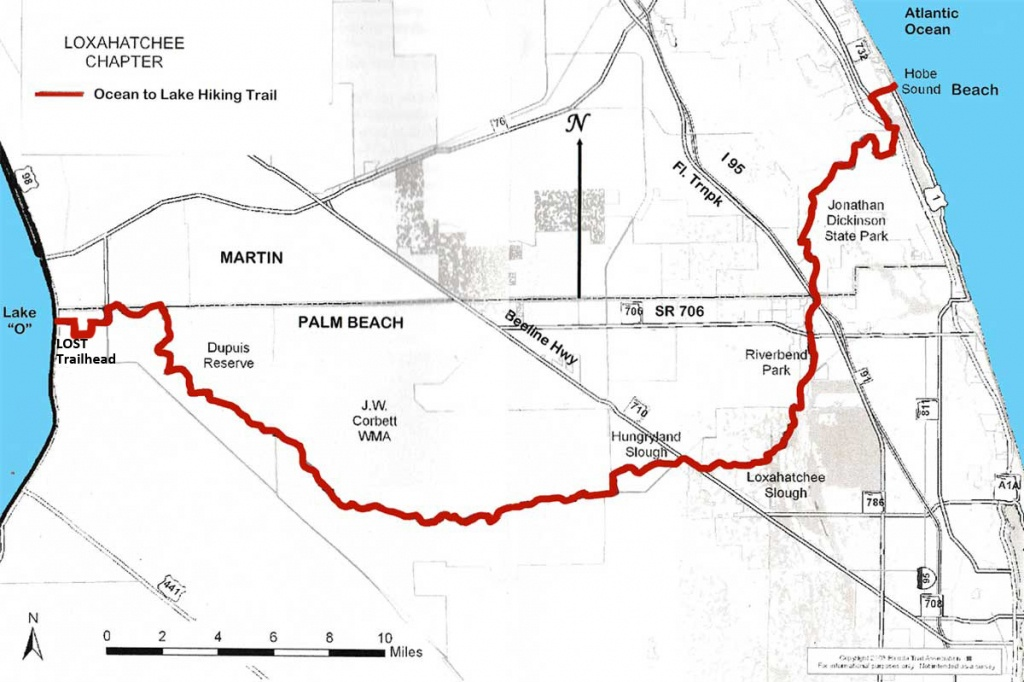 Ocean To Lake Hiking Trail - Florida Trail Map Pdf