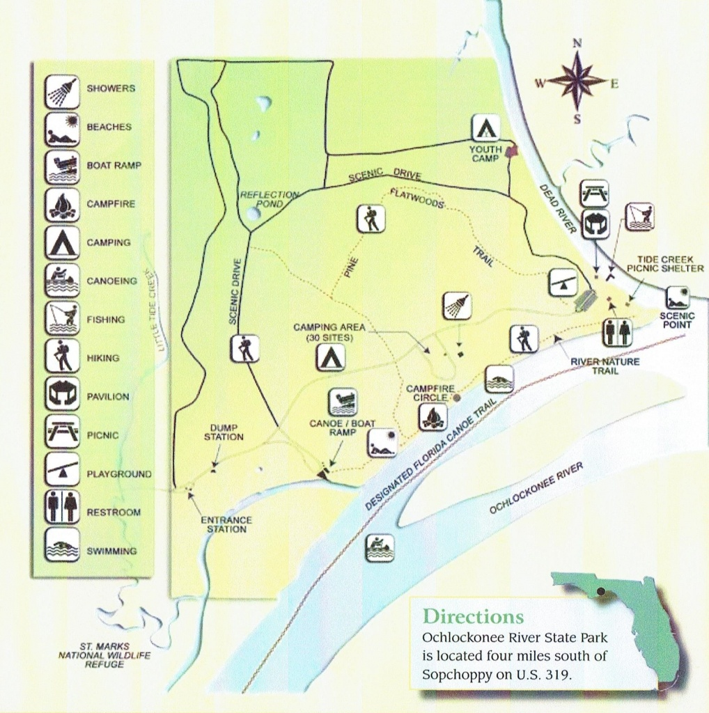 Ochlockonee River State Park - Camping - Places To Stay - Carrabelle - Florida State Park Campgrounds Map