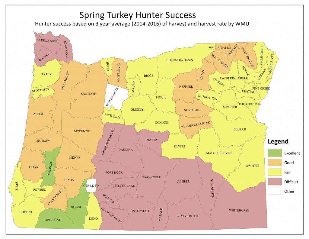 Odfw Spring Turkey Hunting Forecast - Turkey Hunting California Map