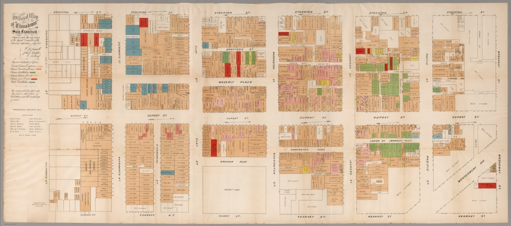 Official Map Of Chinatown In San Francisco. - David Rumsey - Printable Map Of Chinatown San Francisco
