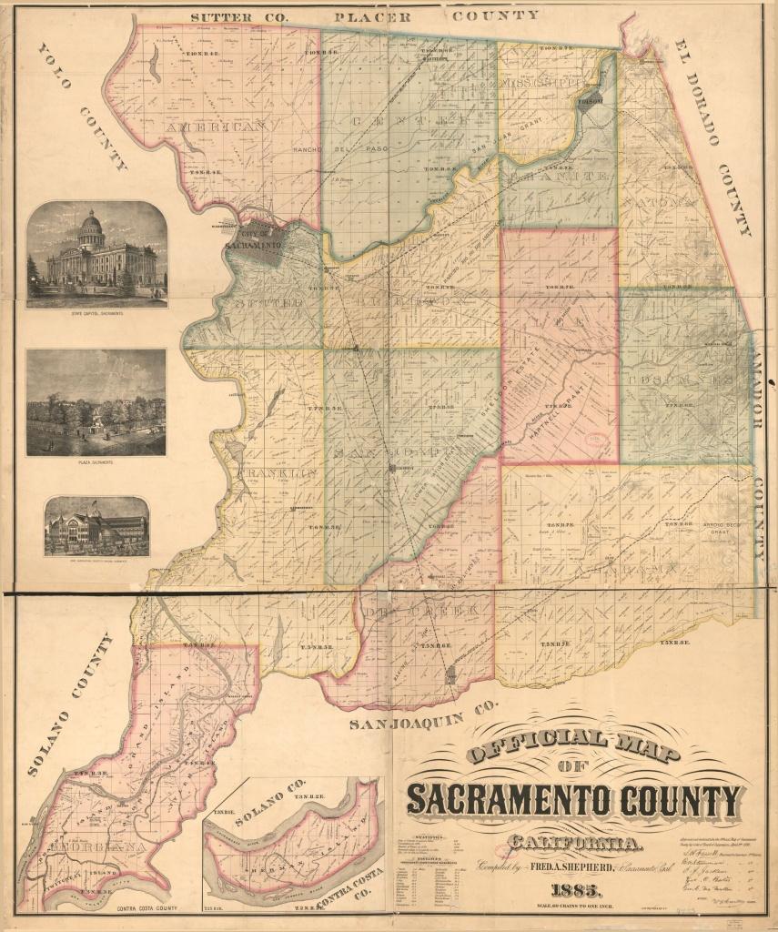 Official Map Of Sacramento County, California   Library Of Congress - Map Of Sacramento County California