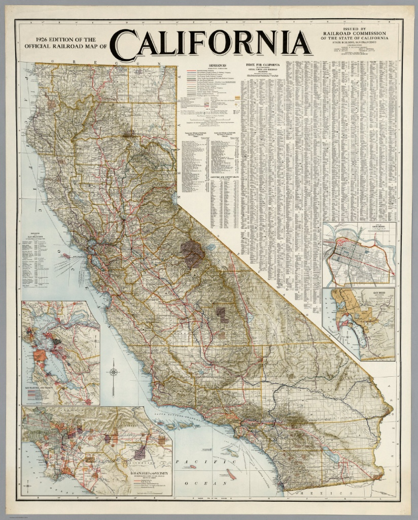 Official Railroad Map Of California, 1926 - David Rumsey Historical - California Railroad Map