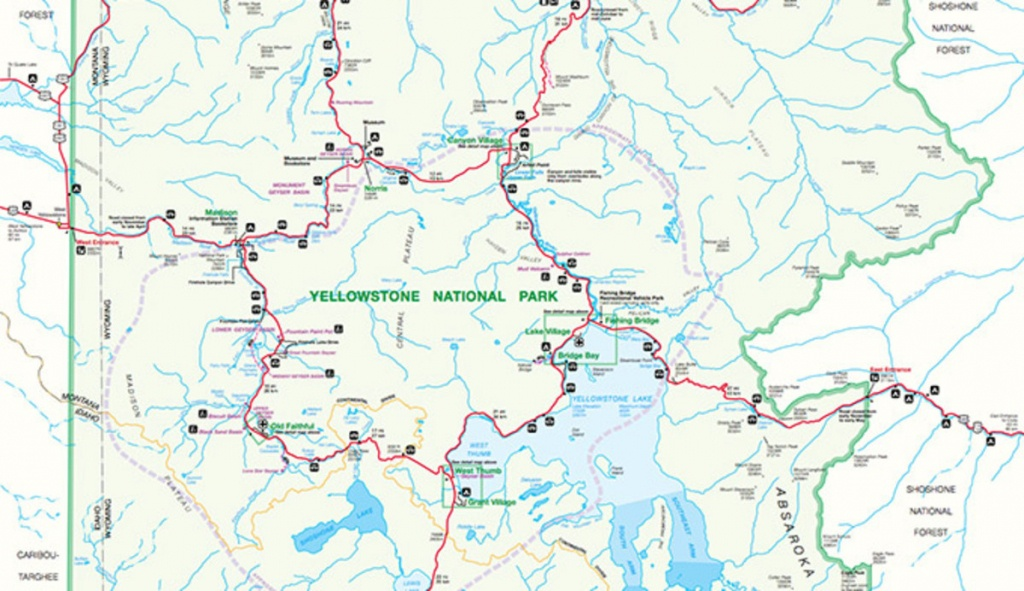 Official Yellowstone National Park Map Pdf - My Yellowstone Park - Printable Map Of National Parks