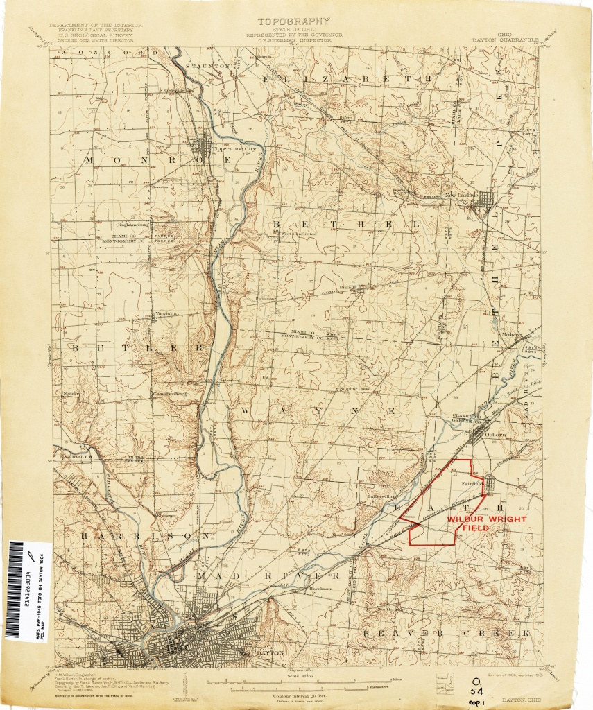 Ohio Historical Topographic Maps - Perry-Castañeda Map Collection - Dayton Texas Map