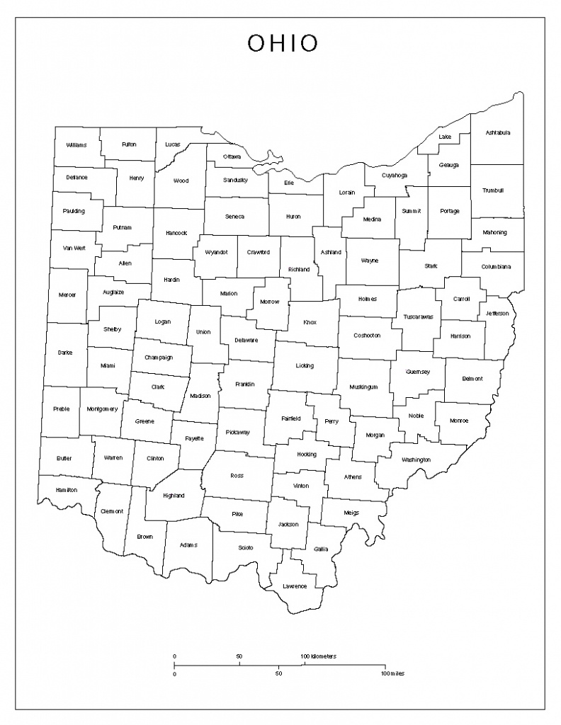 Ohio Labeled Map - Printable Map Of Ohio
