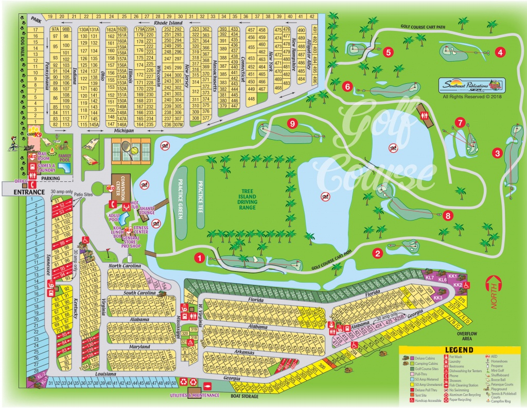 Okeechobee, Florida Campground | Okeechobee Koa - Map Of Koa Campgrounds In Florida
