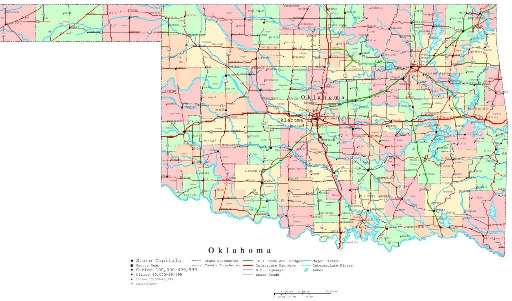 Oklahoma Printable Map - Printable State Maps