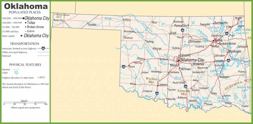 Oklahoma State Maps | Usa | Maps Of Oklahoma (Ok) - Oklahoma State Map Printable