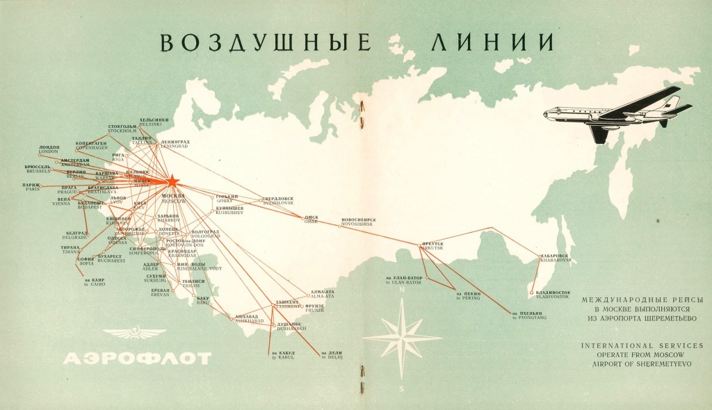Old Aeroflot Route Map   Now Boarding: The World Of Air Travel - Alaska Airlines Printable Route Map