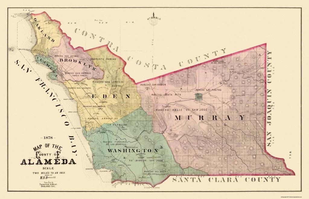 Old County Map - Alameda California Landowner - 1878 - California Map Old