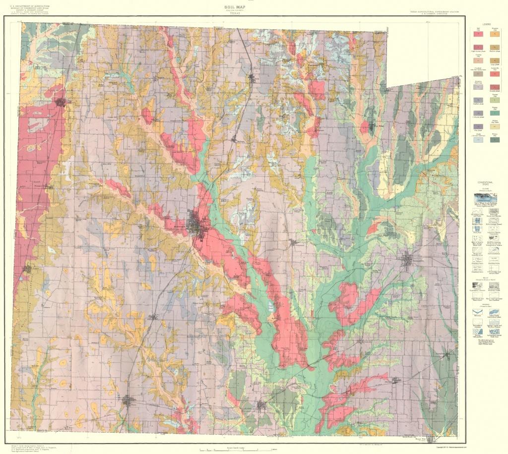 Old County Map - Collin Texas Soil - Usda 1930 - Collin County Texas Map