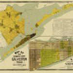 Old County Map   Galveston Texas Landowner   1890   Map Of Galveston Texas