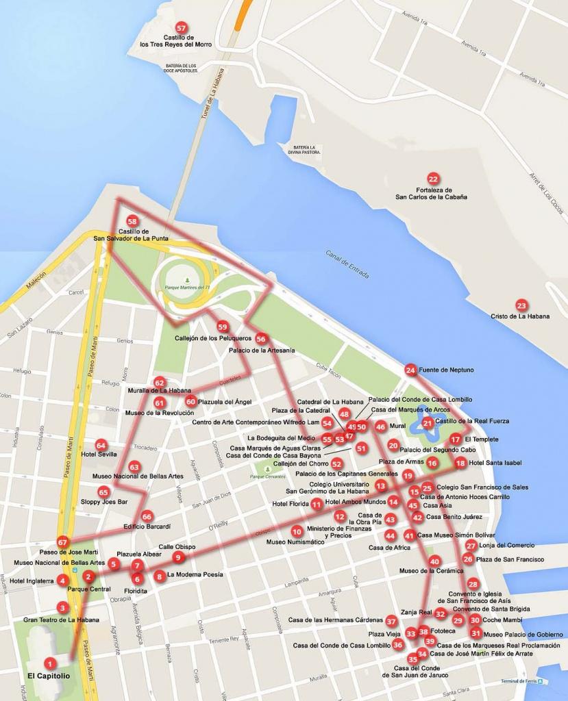 Old Havana Walking Tours (Maps+Texts) - Cuba - Cruise Critic Community - Havana City Map Printable