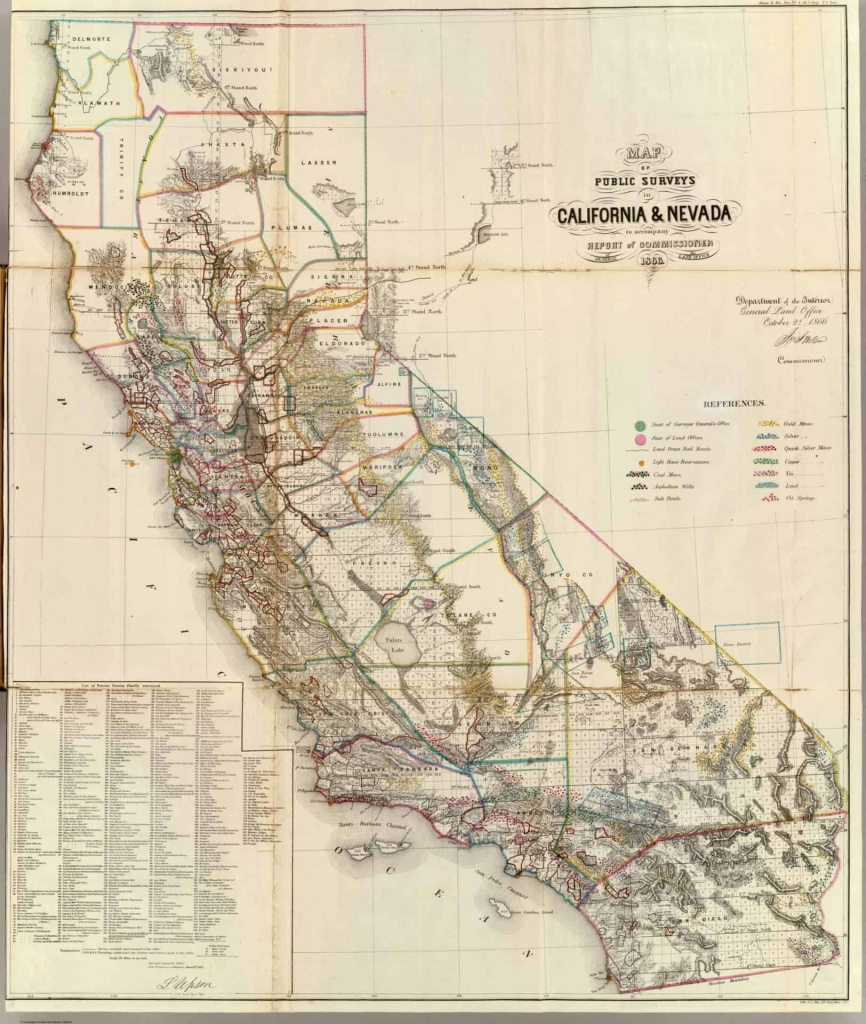 Old Historical City, County And State Maps Of California - California Map Old