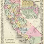 Old Historical City, County And State Maps Of California   Historical Map Of California