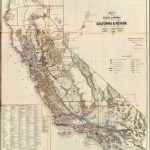 Old Historical City, County And State Maps Of California   Old California Map