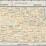 Old Historical City, County And State Maps Of North Dakota   South Dakota County Map Printable