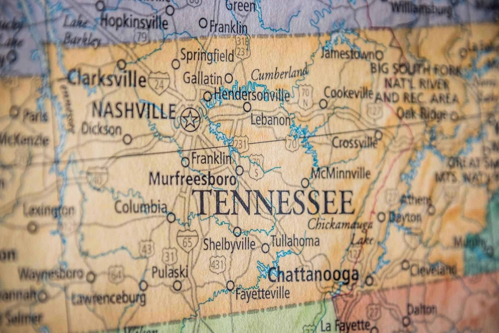 Old Historical City, County And State Maps Of Tennessee - Printable Map Of Tennessee With Cities