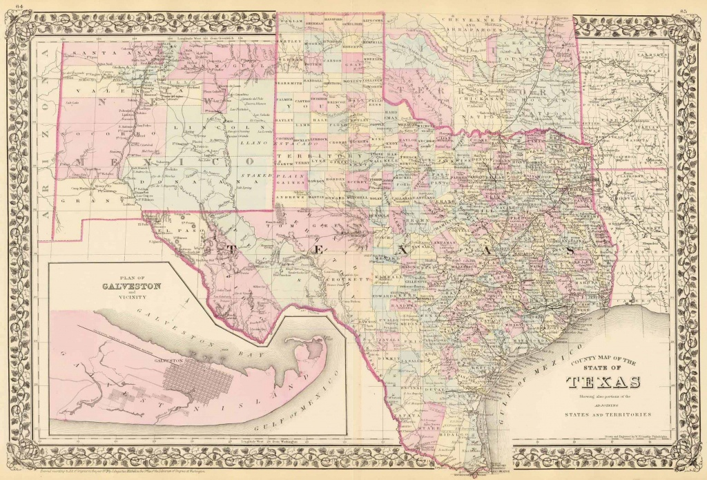 Old Historical City, County And State Maps Of Texas - Vintage Texas Maps For Sale