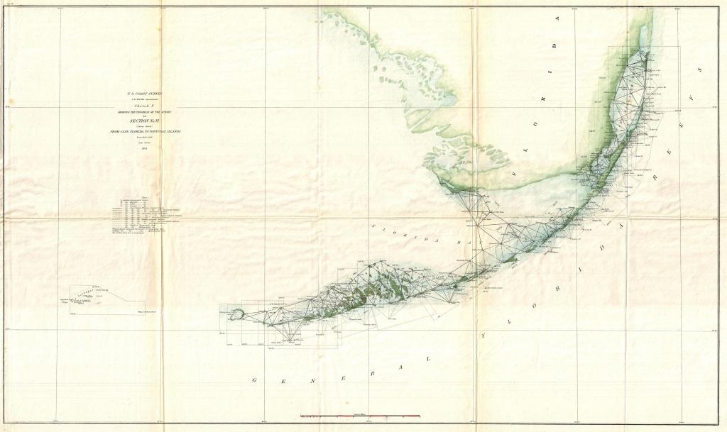 Old Map Of Florida Keys | Time Zones Map - Florida Keys Map Art