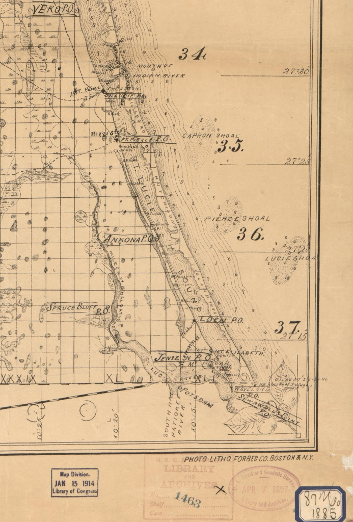 Old Maps   Jacqui Thurlow-Lippisch - Hutchinson Florida Map