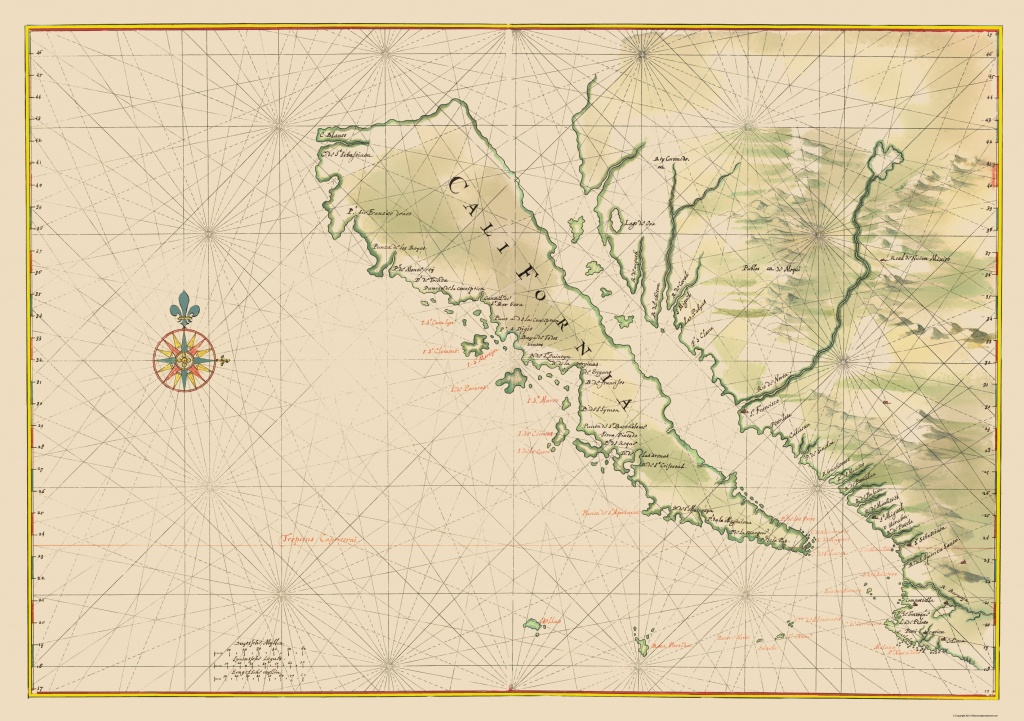 Old State Map - California - 1650 - Old California Map