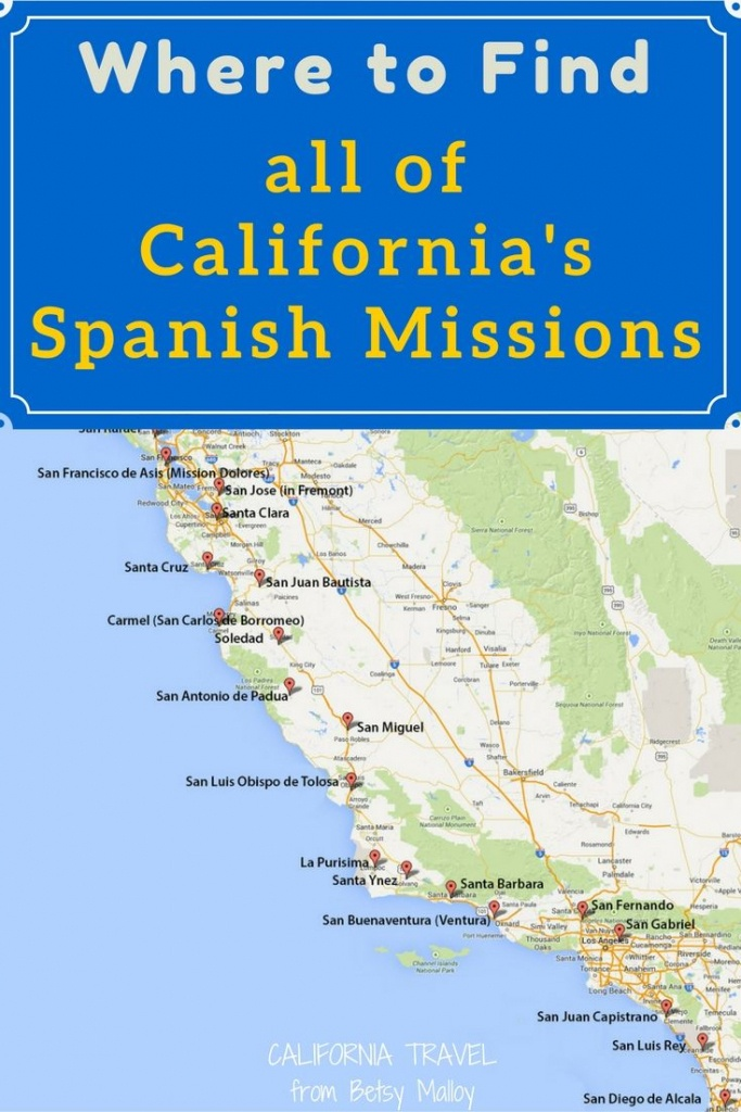 On A Mission? Map Of California's Historic Spanish Missions In 2019 - California Missions Map Printable