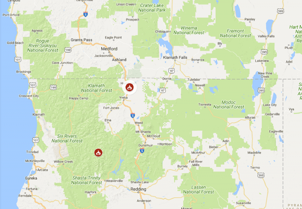 One Person Dies In Wildfire Near California-Oregon Border   The - California Oregon Border Map