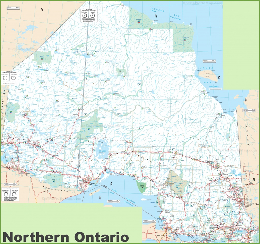 Ontario Province Maps | Canada | Maps Of Ontario (On, Ont) - Free Printable Map Of Ontario