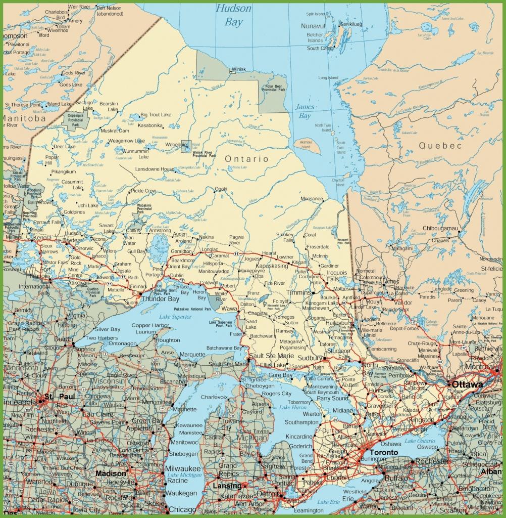 Ontario Road Map - Printable Map Of Ontario
