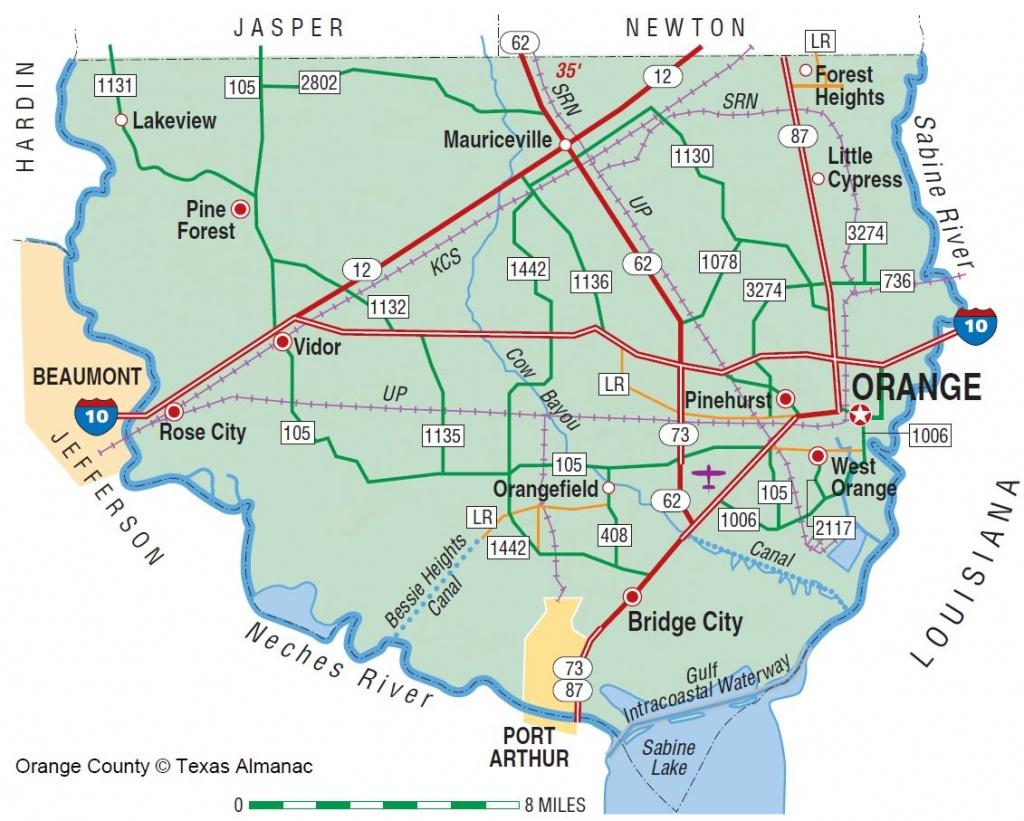 Orange County | The Handbook Of Texas Online| Texas State Historical - Texas Pheasant Population Map