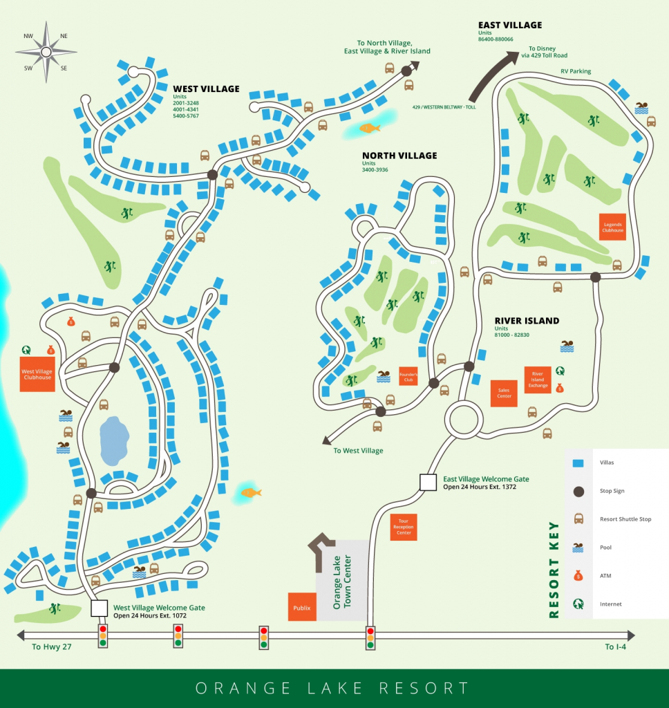 Orange Lake Resort Map, Orlando, Florida - Florida Resorts Map