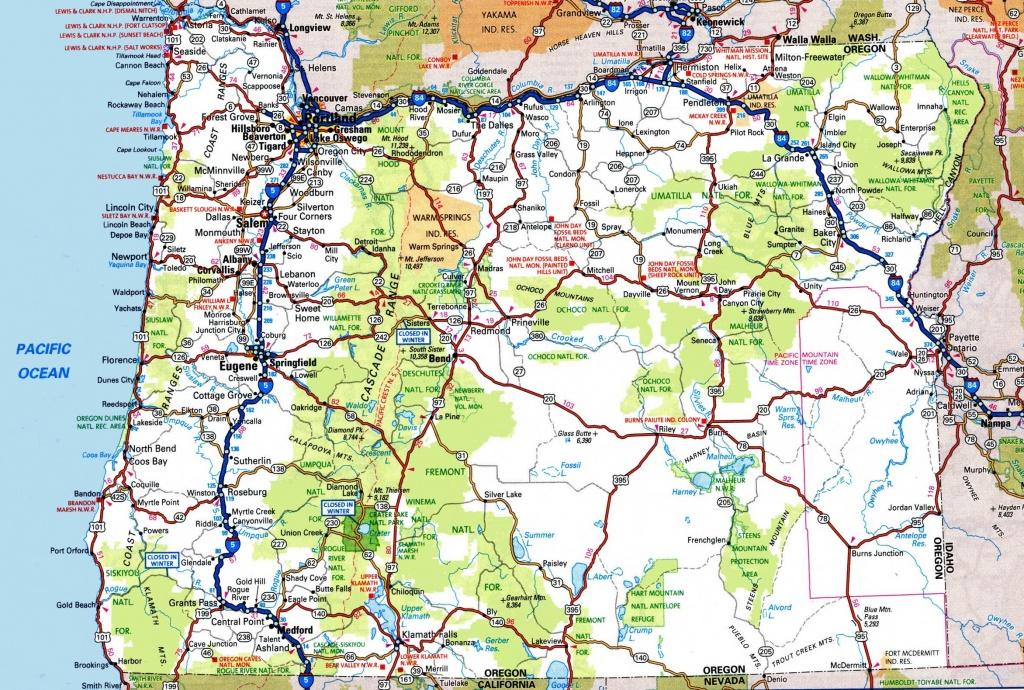 Oregon Road Map - California Oregon Washington Road Map