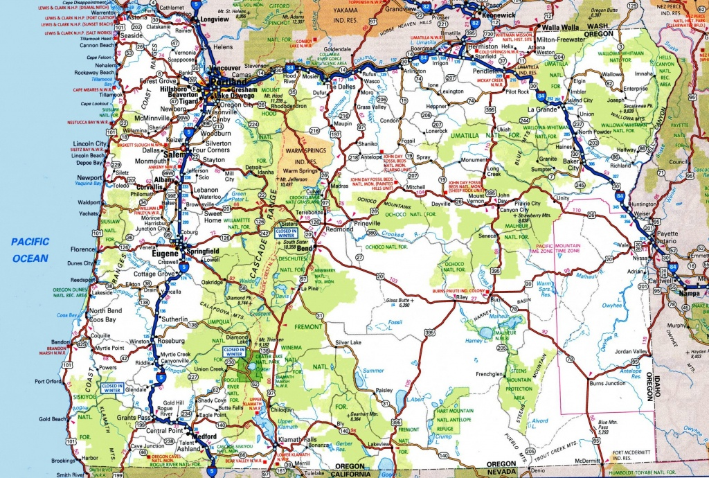 Oregon Road Map - Oregon Road Map Printable