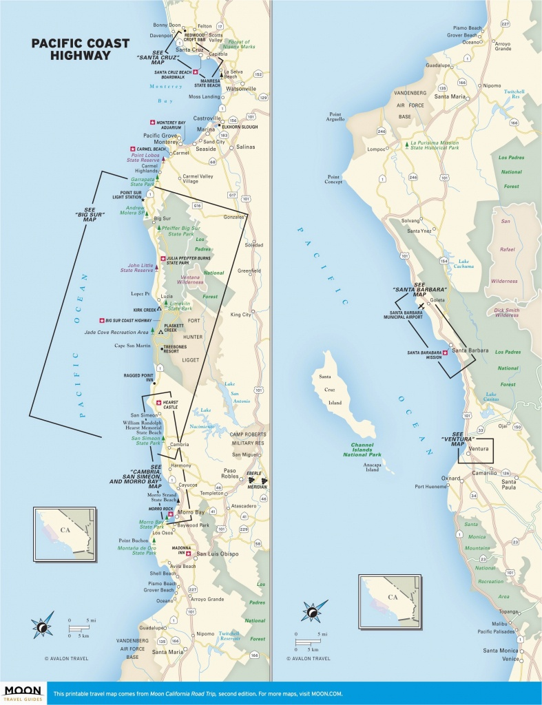 Oregon West Coast Map Map Of West Coast Of California Printable Map - California Coast Map 101
