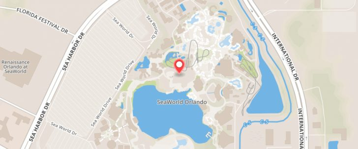 Sea World Florida Map