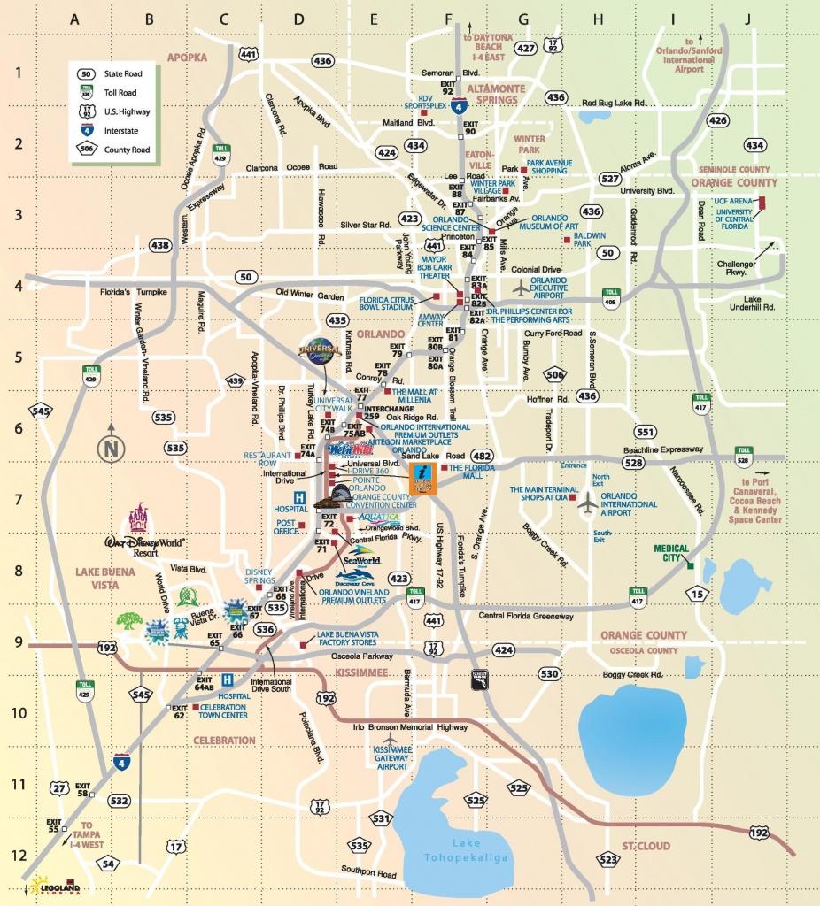 Orlando Attractions Map - Map Of Orlando Attractions (Florida - Usa) - Florida Attractions Map