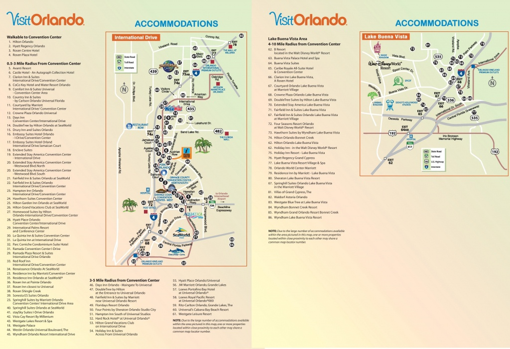 Orlando International Drive Hotel Map - Map Of Hotels In Orlando Florida