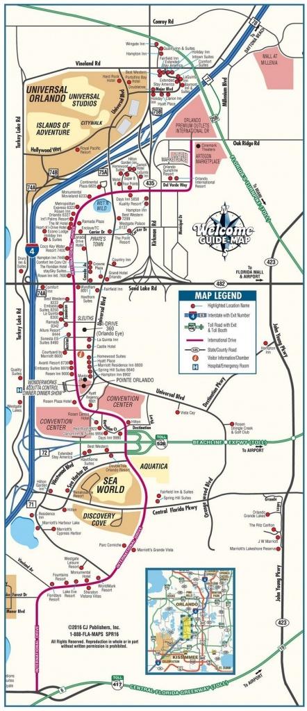 Orlando International Drive Tourist Map   Travel In 2019   Orlando - Map Of Orlando Florida International Drive