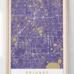 Orlando Map Print In Purple Harmony Orlando Florida Map | Etsy - Harmony Florida Map
