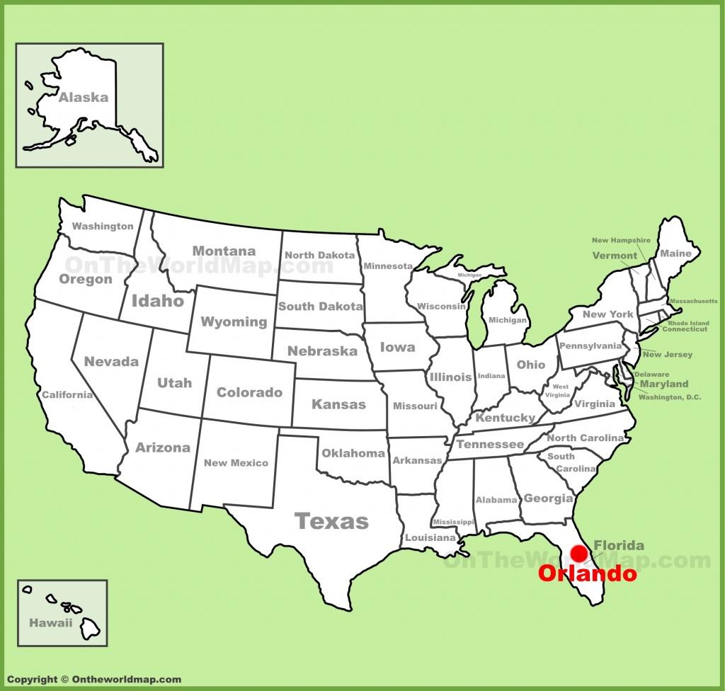 Orlando Maps | Florida, U.s. | Maps Of Orlando - Map Of Florida Near Orlando