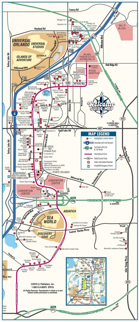 Orlando Maps | Florida, U.s. | Maps Of Orlando - Tourist Map Of Orlando Florida