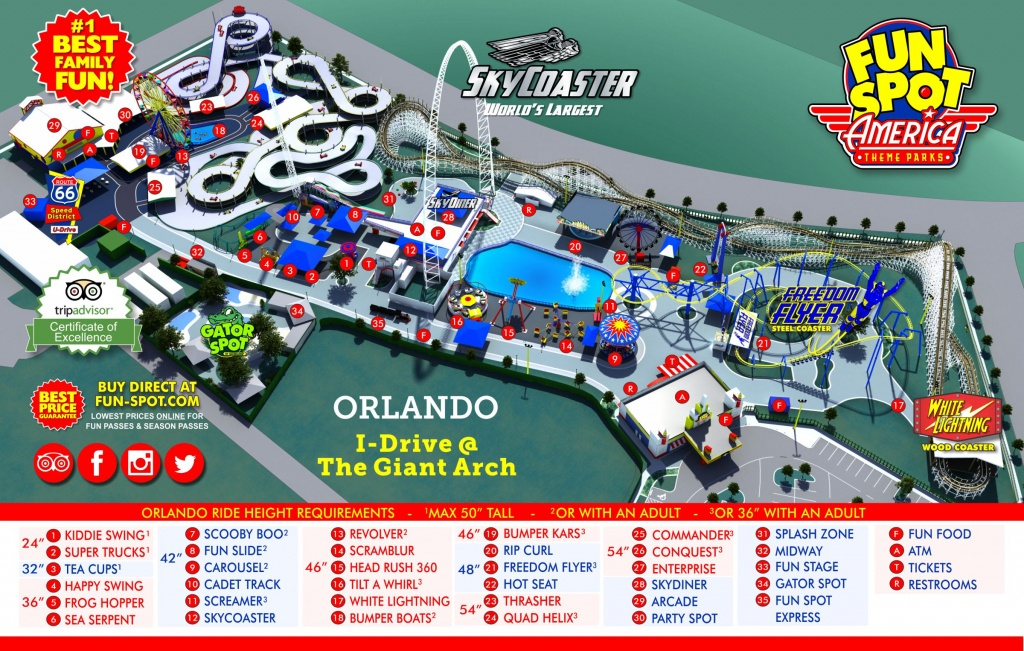 Orlando Park Map | Theme Park Map - Florida Theme Parks On A Map