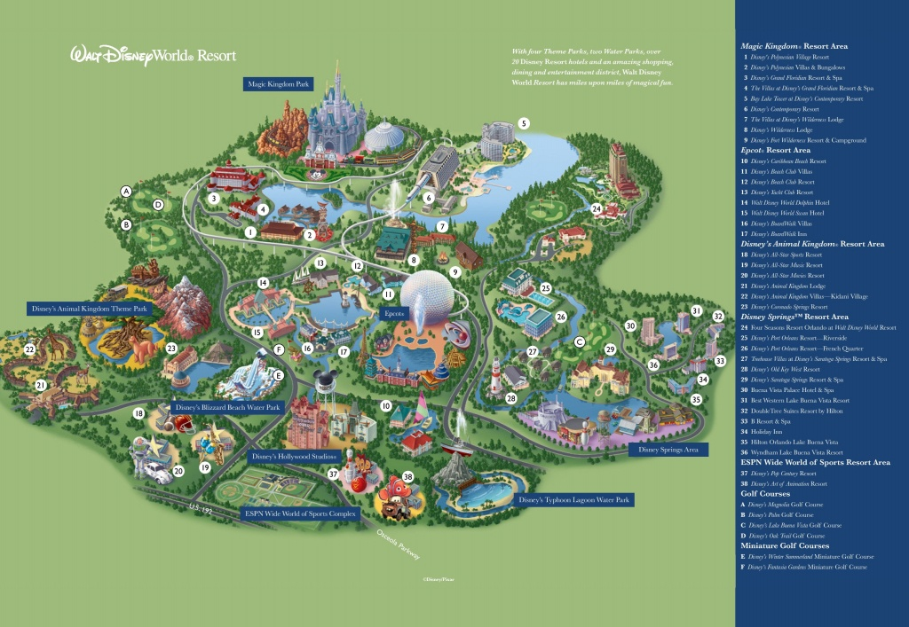 Orlando Walt Disney World Resort Map - Disney Resorts Florida Map