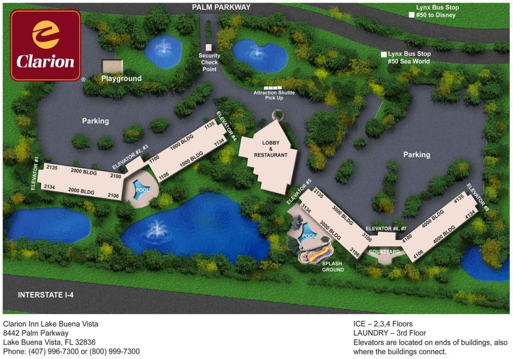 Orlando's Best Value Hotel In Lake Buena Vista Near Disney   Clarion - Map Of Lake Buena Vista Florida Hotels