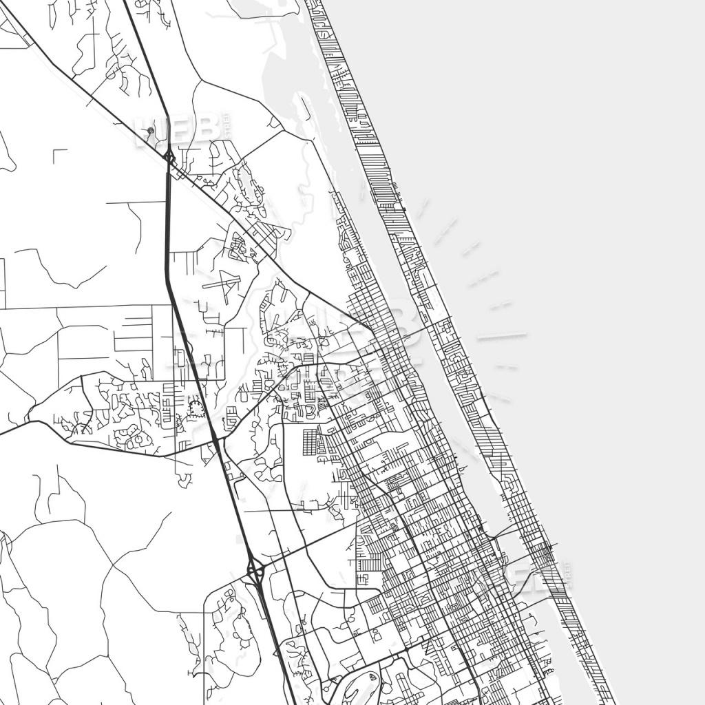 Ormond Beach, Florida - Area Map - Light   Hebstreits Sketches - Street Map Of Ormond Beach Florida